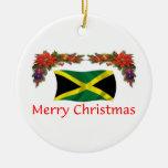 Jamaica Christmas Double-Sided Ceramic Round Christmas Ornament