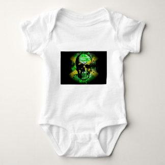 Jamaica circuit Skull Baby Bodysuit