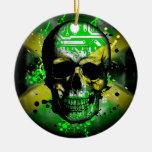 Jamaica circuit Skull Christmas Tree Ornaments