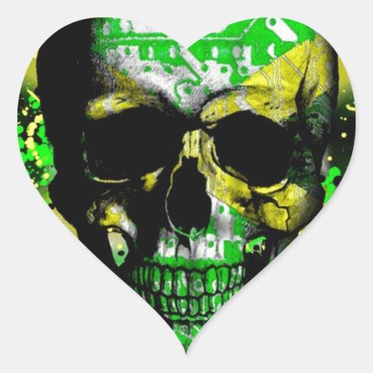Jamaica circuit Skull Heart Sticker