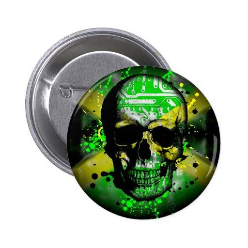 Jamaica circuit Skull Pin