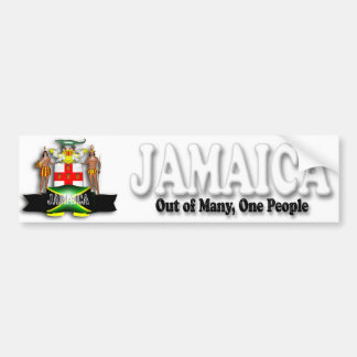 Jamaica Coat of Arms Bumper Sticker Car Bumper Sticker