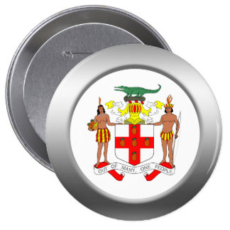 Jamaica Coat of Arms Button