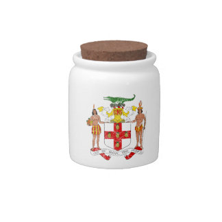 Jamaica Coat Of Arms Candy Dish