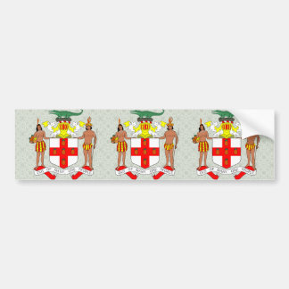 Jamaica Coat of Arms detail Bumper Sticker