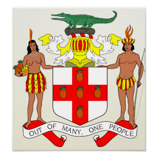 Jamaica Coat of Arms detail Poster