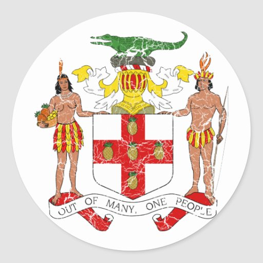 Jamaica Coat Of Arms Stickers