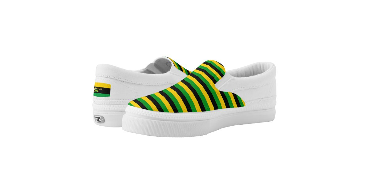 Jamaica Colors Flag Designer Modern Vacation Shoes | Zazzle com