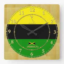 Jamaica Colors Gold Modern Wall Clock Gift Sale