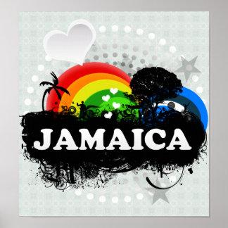 Jamaica con sabor a fruta linda póster