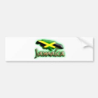 Jamaica con título del oro pegatina para auto