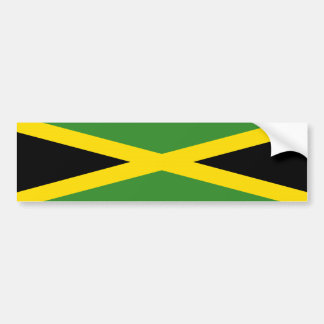 jamaica country flag nation symbol long bumper sticker