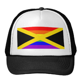 jamaica country gay proud rainbow flag homosexual trucker hat