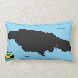 Jamaica country political map flag throw pillow