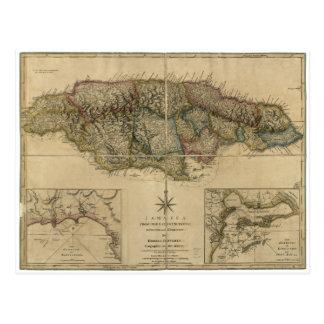 Jamaica del último mapa de las encuestas (1775) tarjeta postal