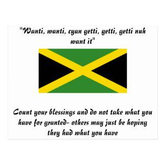 Jamaica designs postcard