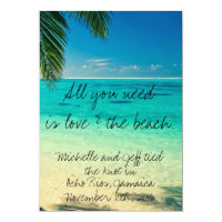Jamaica Destination Wedding Announcement Invite