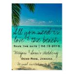 Jamaica Destination Wedding Save the Date Postcards