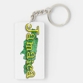 Jamaica Double-Sided Rectangular Acrylic Keychain