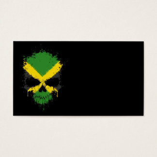 Jamaica Dripping Splatter Skull Business Card