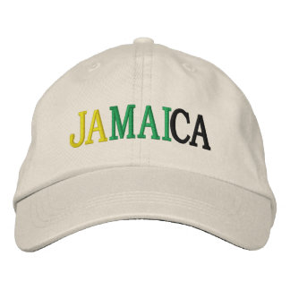 JAMAICA EMBROIDERED BASEBALL CAP
