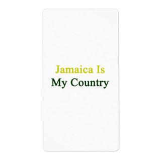 Jamaica es mi país etiqueta de envío