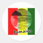 Jamaica Etiquetas Redondas