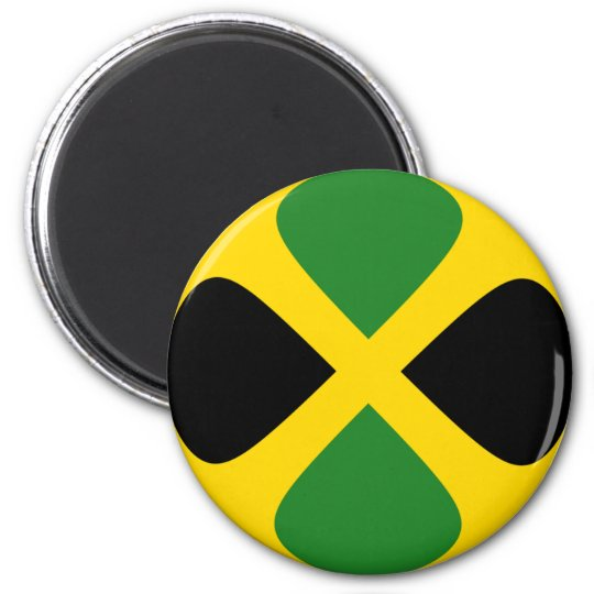 Jamaica Fisheye Flag Magnet