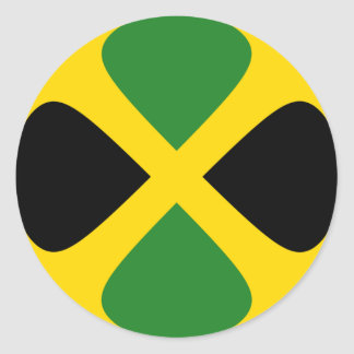 Jamaica Fisheye Flag Sticker