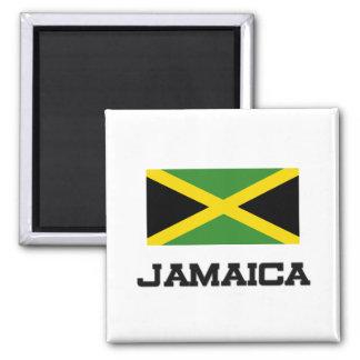 Jamaica Flag 2 Inch Square Magnet