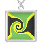 Jamaica Flag Abstract Necklace