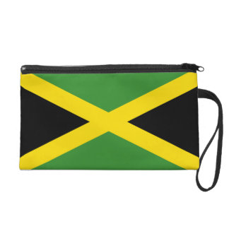 Jamaica Flag Bagettes Bag Wristlet Clutch