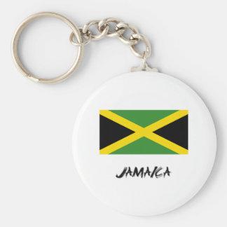 Jamaica Flag Basic Round Button Keychain
