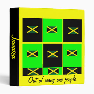 Jamaica flag binders-out of many one people 3 ring binder