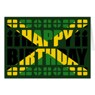 Jamaica Flag Birthday Card