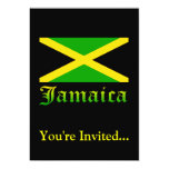 Jamaica Flag, Black, Green and Yellow Announcement