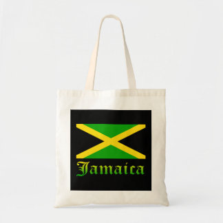 Jamaica Flag, Black, Green and Yellow Budget Tote Bag