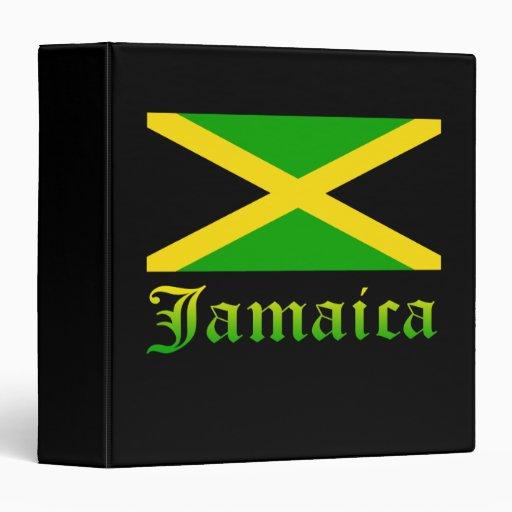Jamaica Flag, Black, Green and Yellow Binders