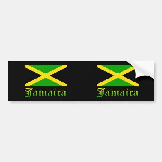 Jamaica Flag, Black, Green and Yellow Bumper Sticker