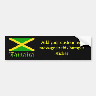 Jamaica Flag, Black, Green and Yellow Bumper Sticker