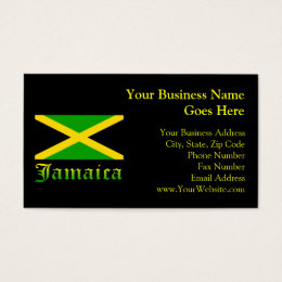 Jamaica Flag, Black, Green and Yellow Business Card