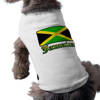 Jamaica Flag, Black, Green and Yellow Pet Shirt