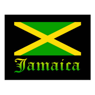 Jamaica Flag, Black, Green and Yellow Postcard