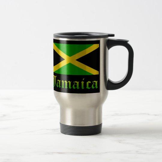 Jamaica Flag, Black, Green and Yellow Travel Mug