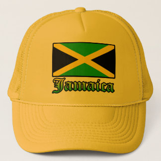 Jamaica Flag, Black, Green and Yellow Trucker Hat