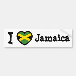 Jamaica Flag Bumper Sticker