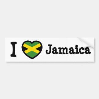 Jamaica Flag Car Bumper Sticker