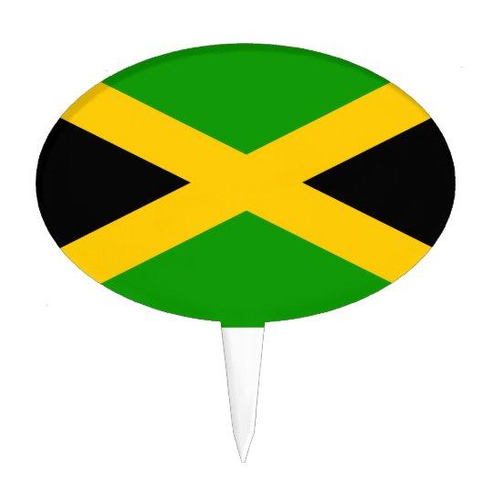 Jamaica Flag Cake Topper