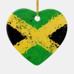 JAMAICA FLAG CHRISTMAS ORNAMENTS