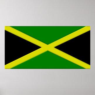 Jamaica Flag Chrome Graphic Poster